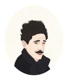 Dmitri, The Grand Budapest Hotel.  Salome Papadopoullos Illustrations