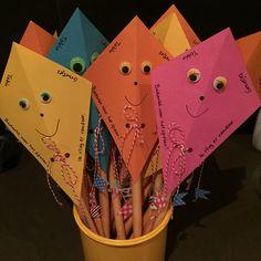 Gezonde traktatie - Afscheid kinderdagverblijf Traktatie soepstengel 'ik vlieg er vandoor'