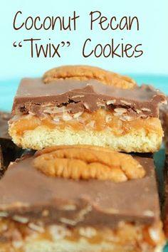 """Coconut Pecan """"Twix"""" Cookies"""