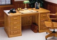 Photo of the Pedestal Desk built from PlansNOW woodworking plans