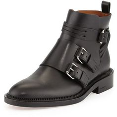 Givenchy Monk-Strap Calfskin Ankle Boot