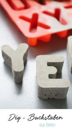 Dani von Gingered Things zeigt dir wie du aus Beton und Silikonformen ganz einfach coole Betonbuchstaben machen kannst.