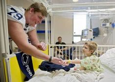 Penn State football players visit children's hospital... #PennStatefootball: Penn State football players visit… #PennStatefootball