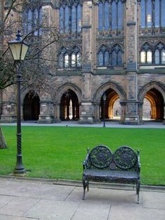The Quadrangle with the Cloisters in the background.
