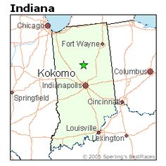 Kokomo, IN  ((Stopping here either on the way, or on the way back, to see The Watkins Family!!.... They're moving back there in July:(...))
