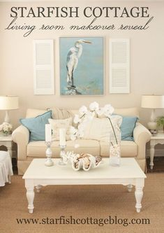 Coastal Living Room Makeover More
