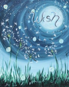 Come paint Make a Wish to the Moon at Pinot's Palette!