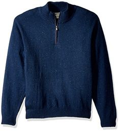 """Product review for Haggar Men's Solid 1/4 Zip Sweater With Faux Suede Elbow Patches.  Light weight cotton blended Haggar sweater with button mock neck and faux suede trim and elbow patches       Famous Words of Inspiration...""""Accept good advice gracefully--as long as it doesn't interfere with what you intended to do in the first..."""