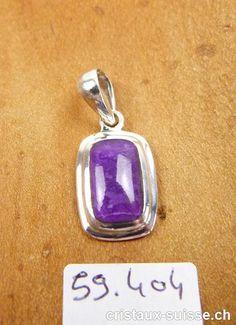 Pendentif Sugilite et argent 925. Pièce unique Pendant Necklace, Personalized Items, Jewelry, Unique, Box Sets, Crystals, Stone, Minerals, Schmuck