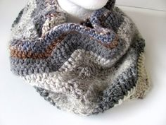 Cowl Scarf Chevron Afghan Design FREE US Shipping by AllAboutTheButtons, $39.00 USD