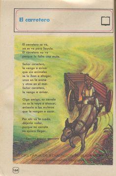 Libros de Primaria de los 80's: El carretero - Español Ej. y Lec. 4to grado