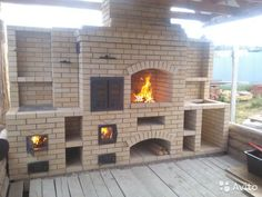 - Professional Services – Pechnik – Barbecue stove fireplaces in the Sverdlovsk Region – Avito free classifieds - Outdoor Kitchen Plans, Outdoor Oven, Outdoor Kitchen Design, Outside Living, Outdoor Living, Barbecue Garden, Brick Bbq, Four A Pizza, Backyard Patio Designs