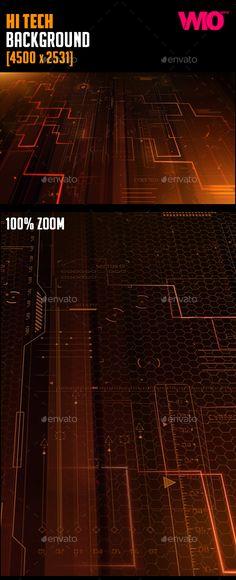 Hi Tech Background 4500x2531px
