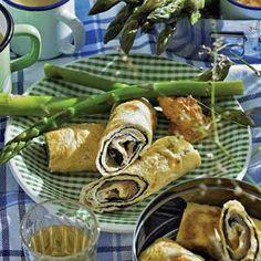 Recept - Omeletrolletjes met nori en zalm - Allerhande