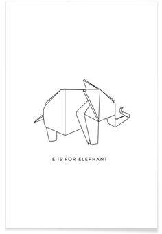 E als Premium Poster door Julia Marquardt | JUNIQE