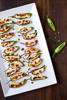 Goat Cheese-Stuffed Peppers with Honey and Bacon by foodiebride, via Flickr