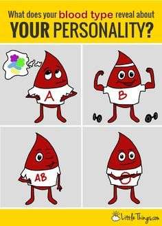 I can't believe what my blood type revealed about me! It's amazing what blood will tell.