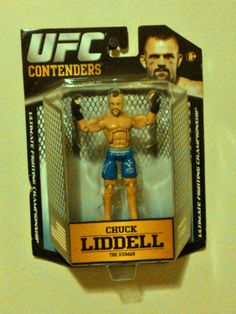 "2011 Jakks Pacific UFC Contenders 4"" Action Figure- Chuck Liddell ""The Iceman"""