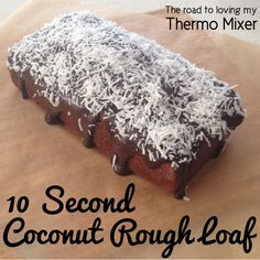 My 10 Second Coconut Bread has been a MASSIVE hit. It is quick, easy and very adaptable. I know many people have been able to tweak it using spelt flour, rice& milks and changing the sugar used in it. This is a really versatile loaf& that can suit lots Coconut Recipes, Baking Recipes, Cake Recipes, Bellini Recipe, Cake Stall, Thermomix Desserts, Lunch Box Recipes, Lunchbox Ideas, Snacks