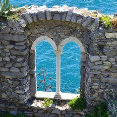 Windows into soul of ocean - Portovenere, Italy.