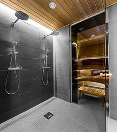 Do you want to create fabulous home sauna design ideas as your home design ideas? Creating a fabulous home sauna sounds great. In addition to making aesthetics in your home, a home sauna is very suitable for you to choose… Continue Reading → Bathroom Spa, Bathroom Layout, Bathroom Interior Design, Modern Bathroom, Bathroom Ideas, Tile Layout, Remodel Bathroom, Master Bathroom, Minimal Bathroom