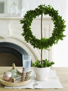 Wreath on a stick, scandinavian tradition.