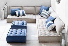 Magnificent Floor Pillow Couch , Epic Floor Pillow Couch 89 For Your Modern Sofa… – Floor Pillow Floor Seating Cushions, Outdoor Floor Cushions, Outdoor Balcony, Outdoor Flooring, Outdoor Lounge, Baby Boden, Floor Couch, Floor Cushion Couch, Modul Sofa