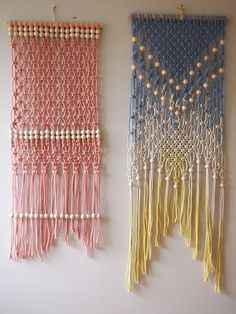 ouch flower: How to Dip Dye your Macrame and Tassels, sucessfully!