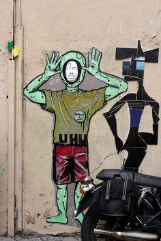 Artists Gregos Art and Norulescorp Art....Paris