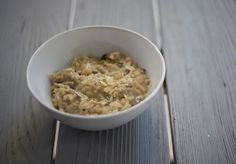 Creamy mushroom Thermomix risotto with parmesan and buttermilk