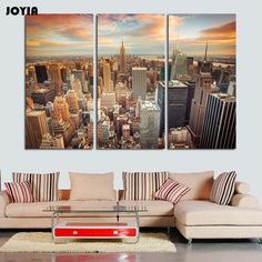 riptych Canvas Print New York Skyline 3 Panel Split City Areal Photography Gallery Wrap Giclee Print for Wall Decor No Framed,High Quality canvas prints,China 3 panel Suppliers, Cheap triptych canvas from Your Unique Decoration on Aliexpress.com