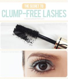 "The ""Clump Free Lashes"" trick!"