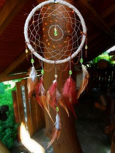 Shabby Gray-Brown Dream Catcher Amber Dream by DreamyFlowerWonder