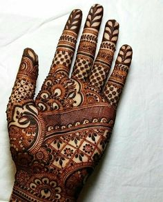 Explore latest Mehndi Designs images in 2019 on Happy Shappy. Mehendi design is also known as the heena design or henna patterns worldwide. We are here with the best mehndi designs images from worldwide. Henna Hand Designs, Dulhan Mehndi Designs, Mehndi Designs Finger, Mehndi Designs For Girls, Unique Mehndi Designs, Wedding Mehndi Designs, Beautiful Henna Designs, Latest Mehndi Designs, Henna Tattoo Designs