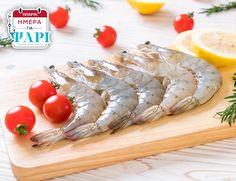 Τα πιο φρέσκα θαλασσινά από τα ΑΒ κατευθείαν στο τραπέζι σας. Βρείτε σήμερα γαρίδες vannamei και απολαύστε τις στη σχάρα ή σαγανάκι! Camembert Cheese, Dairy, Fish, Meat, Ichthys