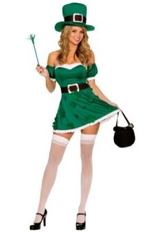 St Patricks Day Party Outfits For Women. St Patricks Day Costume Ideas For Women. patricks day party outfit for women Sexy Irish Leprechaun Costume (In Various Stock) Irish Costumes, St Patrick's Day Costumes, Holiday Costumes, Cool Costumes, Adult Costumes, Costumes For Women, Halloween Costumes, Adult Halloween, Children Costumes