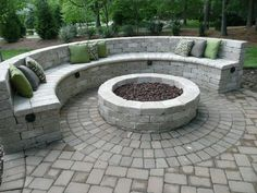 Paver Patio with Fire Pit . Paver Patio with Fire Pit . Durham Fire Pit On Belgard Paver Patio Paver Fire Pit, Fire Pit Bench, Cinder Block Fire Pit, Fire Pit Seating, Diy Fire Pit, Fire Pit Backyard, Backyard Patio, Seating Areas, Backyard Ideas