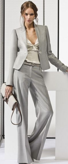 grey suit style ♥✤ | Keep the Glamour | BeStayBeautiful