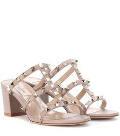 bcaabaeb97b0 Valentino Garavani Rockstud leather sandals