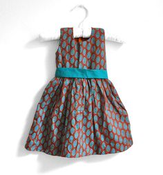 Baby Dress  Size  9  12 months  Rustic Brown with by PaisleyMagic, $29.99