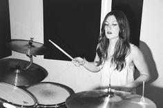 Becki the drummer by Ryan Biercewicz, via ryanbphoto.co.uk