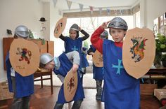 how to make shields and other ideas for knight theme (Michaelmas).  kingdom rock vbs.