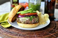 Spicy Chimichurri Burger using Star's Picual Extra Virgin Olive Oil for Beef/Lamb @Laurie McNamara ~ Simply Scratch