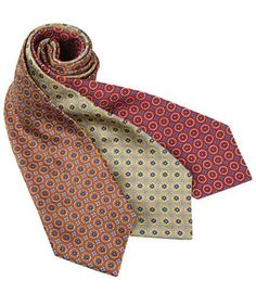 Executive Collection Geometric Cirlce Tie - Long