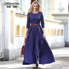 Women's clothing 2016 spring expansion bottom one-piece dress ruffle slim thin full dress new elegant gentlewomen long dress