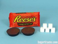 REESE'S PEANUT BUTTER CUPS - This is a satisfying treat with less sugar than most candy bars.