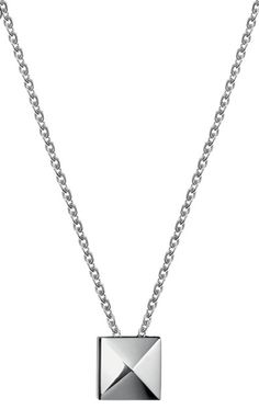 Official Calvin Klein Jewellery Stockist Dublin Ireland Campbell Jewellers Calvin Klein Edge Stainless Steel Pendant KJ3CBE100100