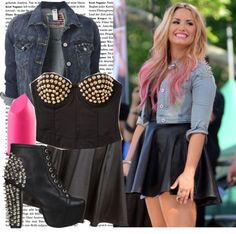 """""""Demi Lovato Style"""" by shayla-montgomery ❤ liked on Polyvore"""