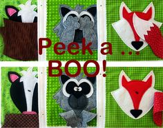 Forest Peek a Boo Felt QUIET BOOK .Pdf PATTERN by LindyJDesign
