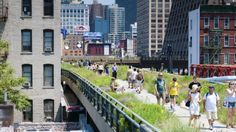 People walk the New York High Line, an elevated park along 10th Avenue. Photo: iStock